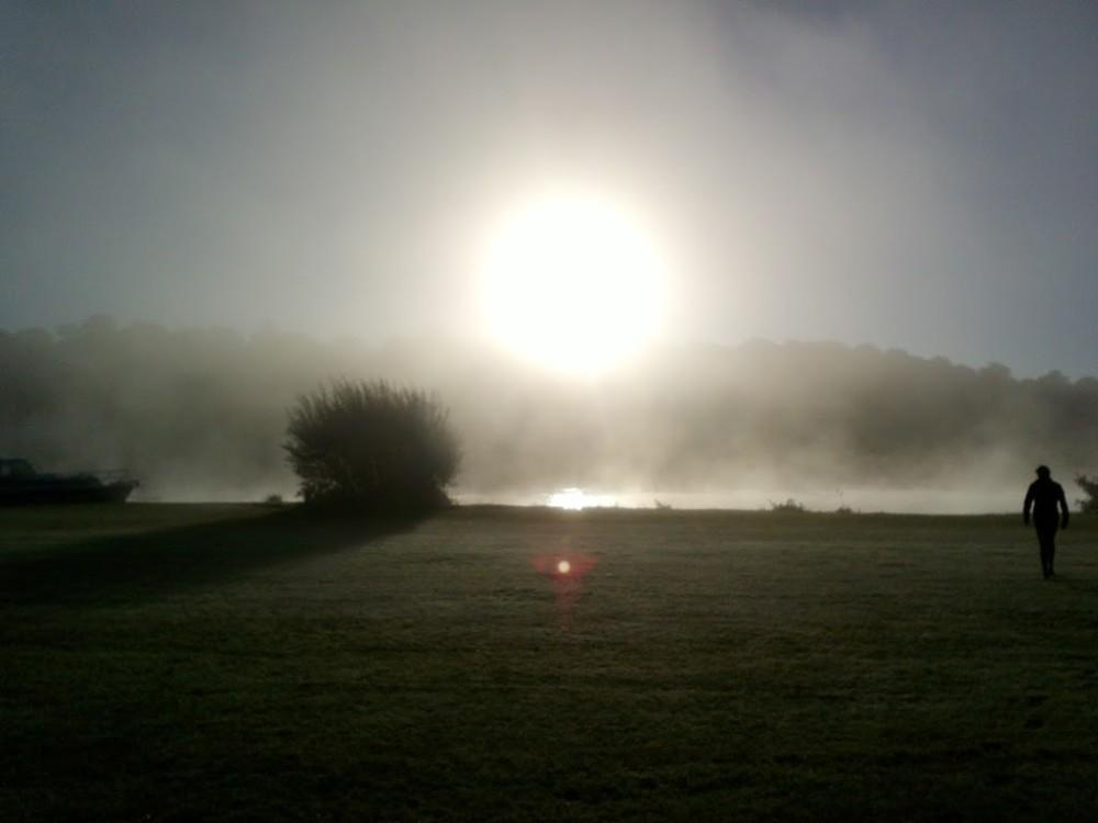 Early morning fog over the Thames, Henley