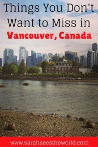 Things you don't want to miss in Vancouver Pin