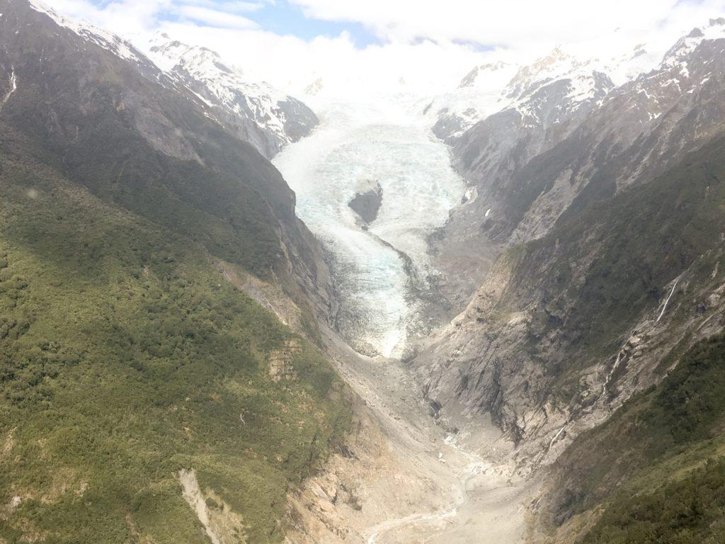 Franz Josef helicopter view of glacier