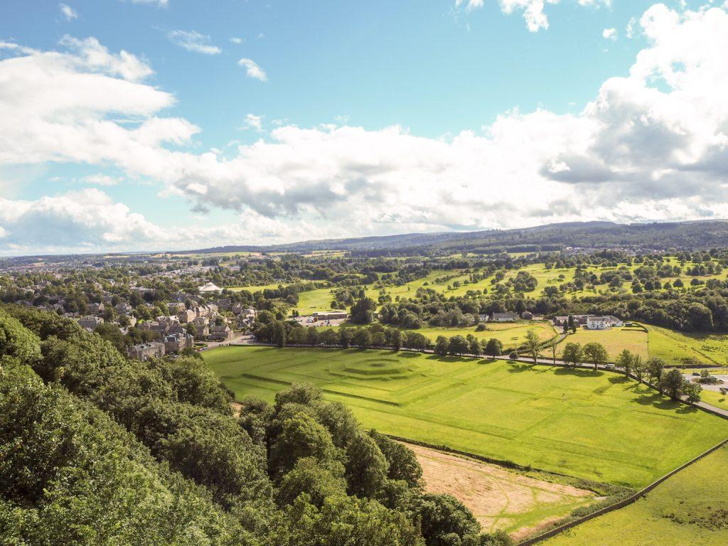 view of lawns stirling castle scotland