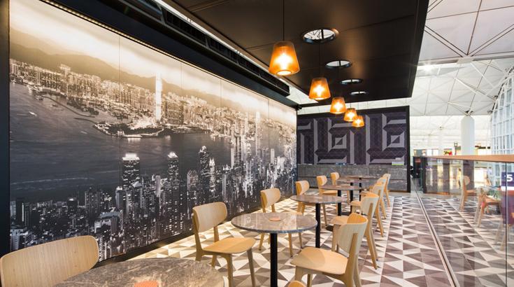 Dining area qantas hong kong lounge