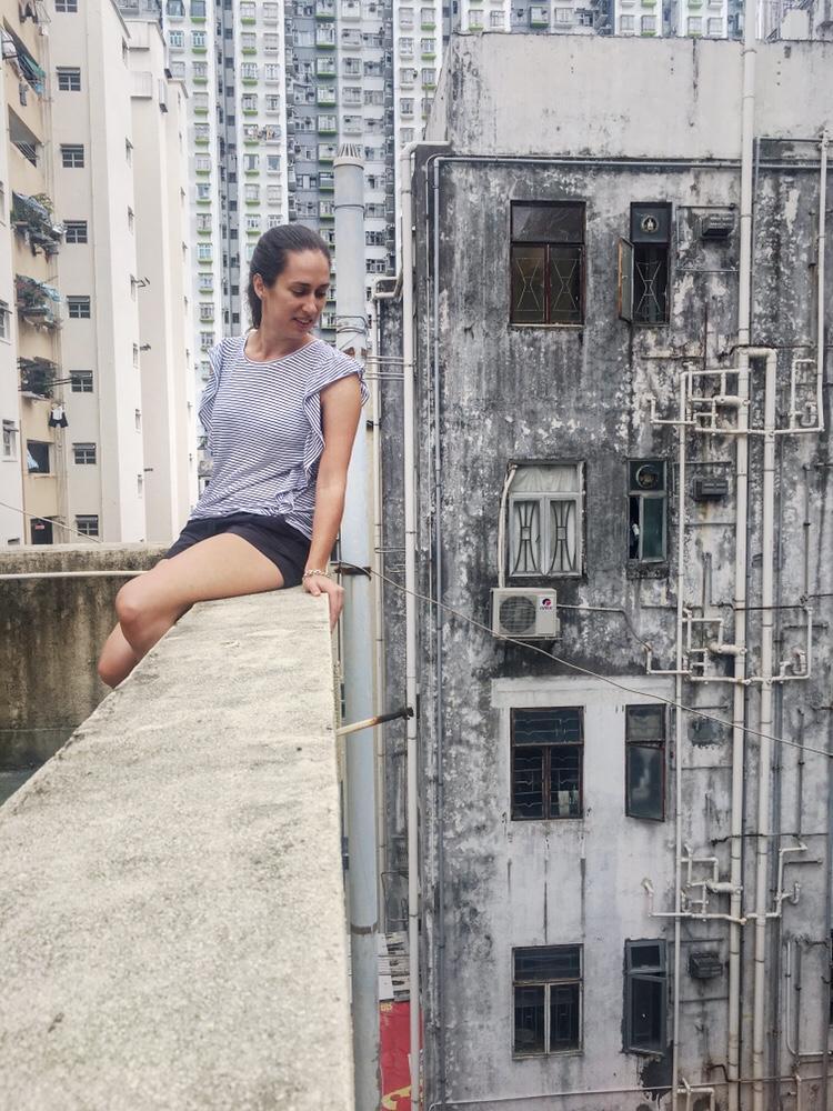 derelict building in hong kong